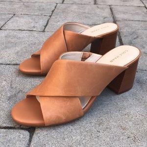 Cole Haan Dakota Criss Cross Mule Sandals in Pecan